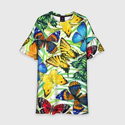 Детское платье Тропические бабочки