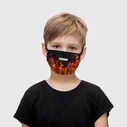 Маска для лица детская Нирвана цвета 3D-принт — фото 1