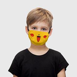 Маска для лица детская Pokemon Pikachu цвета 3D — фото 1