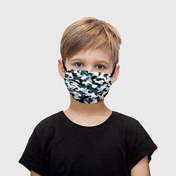 Маска для лица детская Камуфляж зимний: пятна цвета 3D — фото 1