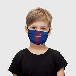 Маска для лица детская FCB: Лионель Месси цвета 3D-принт — фото 1