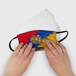 Маска для лица детская Герб и флаг Армении цвета 3D — фото 2