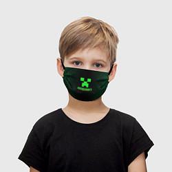 Детская защитная маска с принтом Minecraft, цвет: 3D, артикул: 10218457105919 — фото 1