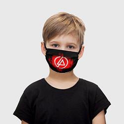 Маска для лица детская Linkin Park: Red style цвета 3D-принт — фото 1