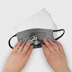 Маска для лица детская Кобейн в очках цвета 3D-принт — фото 2