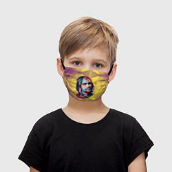 Маска для лица детская Kurt Cobain: Abstraction цвета 3D-принт — фото 1