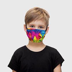 Маска для лица детская Абстракция цвета цвета 3D — фото 1