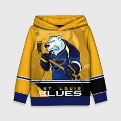 Толстовка-худи детская St. Louis Blues цвета 3D-синий — фото 1