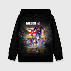 Толстовка-худи детская Messi FCB цвета 3D-черный — фото 1