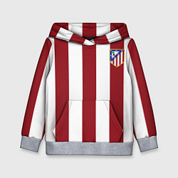 Толстовка-худи детская Атлетико Мадрид цвета 3D-меланж — фото 1