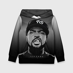 Толстовка-худи детская Ice Cube: Gangsta цвета 3D-черный — фото 1