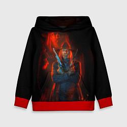 Толстовка-худи детская Wild Guns цвета 3D-красный — фото 1
