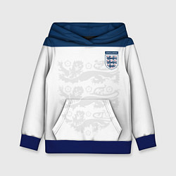 Толстовка-худи детская Сборная Англии цвета 3D-синий — фото 1