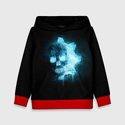Толстовка-худи детская Gears of War: Death Shadow цвета 3D-красный — фото 1