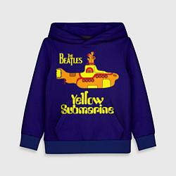 Толстовка-худи детская The Beatles: Yellow Submarine цвета 3D-синий — фото 1