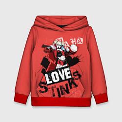 Толстовка-худи детская Harley Quinn цвета 3D-красный — фото 1
