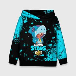 Толстовка-худи детская BRAWL STARS LEON SHARK цвета 3D-черный — фото 1