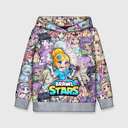Толстовка-худи детская BrawlStars Girls Oko цвета 3D-меланж — фото 1