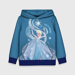 Толстовка-худи детская Принцесса Эльза цвета 3D-синий — фото 1