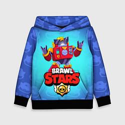 Толстовка-худи детская Вольт - Brawl Stars цвета 3D-черный — фото 1