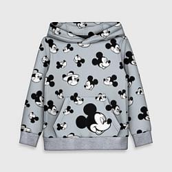 Толстовка-худи детская Микки Маус цвета 3D-меланж — фото 1