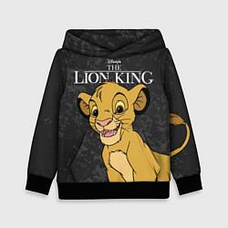 Толстовка-худи детская Король Лев цвета 3D-черный — фото 1