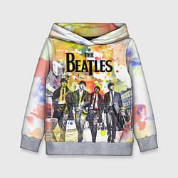 Толстовка-худи детская The Beatles: Colour Spray цвета 3D-меланж — фото 1