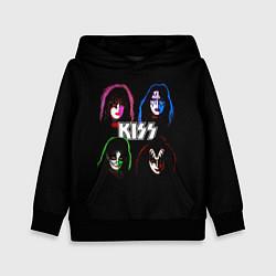 Толстовка-худи детская KISS: Acid Colours цвета 3D-черный — фото 1