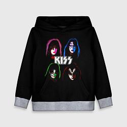 Толстовка-худи детская KISS: Acid Colours цвета 3D-меланж — фото 1