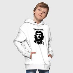 Толстовка оверсайз детская Che Guevara цвета белый — фото 2