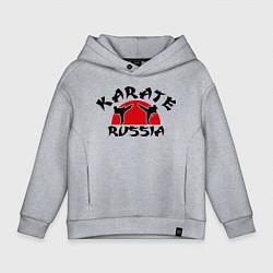 Толстовка оверсайз детская Karate Russia цвета меланж — фото 1