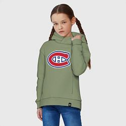 Толстовка оверсайз детская Montreal Canadiens цвета авокадо — фото 2