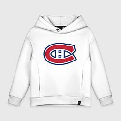 Толстовка оверсайз детская Montreal Canadiens цвета белый — фото 1