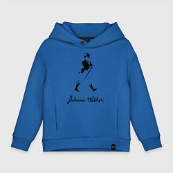 Толстовка оверсайз детская Johnnie Walker цвета синий — фото 1