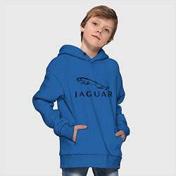 Толстовка оверсайз детская Jaguar цвета синий — фото 2
