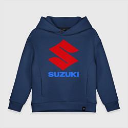 Толстовка оверсайз детская Suzuki цвета тёмно-синий — фото 1