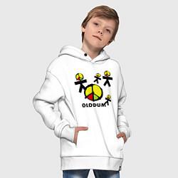 Толстовка оверсайз детская Olodum цвета белый — фото 2