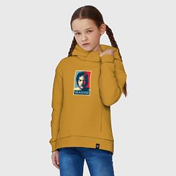Толстовка оверсайз детская Lennon Imagine цвета горчичный — фото 2