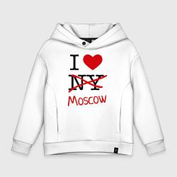 Толстовка оверсайз детская I love Moscow цвета белый — фото 1