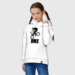 Толстовка оверсайз детская BMX 3 цвета белый — фото 2