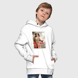 Толстовка оверсайз детская American Gods: Mr. Wednesday цвета белый — фото 2