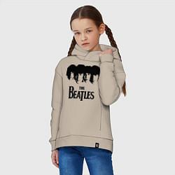 Толстовка оверсайз детская The Beatles: Faces цвета миндальный — фото 2