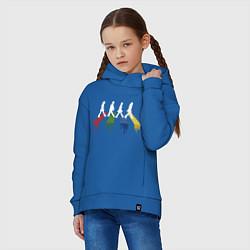 Толстовка оверсайз детская Beatles Color цвета синий — фото 2
