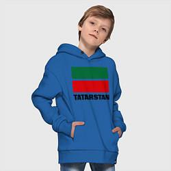Толстовка оверсайз детская Флаг Татарстана цвета синий — фото 2