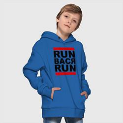 Толстовка оверсайз детская Run Вася Run цвета синий — фото 2