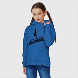 Толстовка оверсайз детская Street WorkOut цвета синий — фото 2