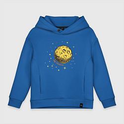 Толстовка оверсайз детская My Universe: Moon цвета синий — фото 1