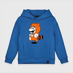 Толстовка оверсайз детская Mario In Tanooki Suit цвета синий — фото 1