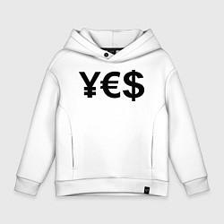 Толстовка оверсайз детская YE$ цвета белый — фото 1