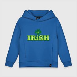 Толстовка оверсайз детская Ирландия цвета синий — фото 1